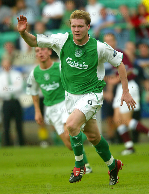 Garry O'Connor, Hibs.stock season 2003-04..pic willie vass