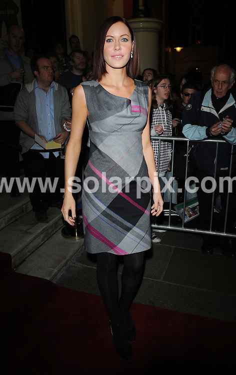 **ALL ROUND PICTURES FROM SOLARPIX.COM**.**WORLDWIDE SYNDICATION RIGHTS**.Celebrities attend French and Saunders performance at the Drury Lane Theatre, London, UK. 16th October 2008..This pic: Linzi Stoppard..JOB REF: 7625 SSD   DATE: 16_10_2008.**MUST CREDIT SOLARPIX.COM OR DOUBLE FEE WILL BE CHARGED* *UNDER NO CIRCUMSTANCES IS THIS IMAGE TO BE REPRODUCED FOR ANY ONLINE EDITION WITHOUT PRIOR PERMISSION*