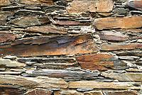 Schist stonework in Píodão, Portugal.