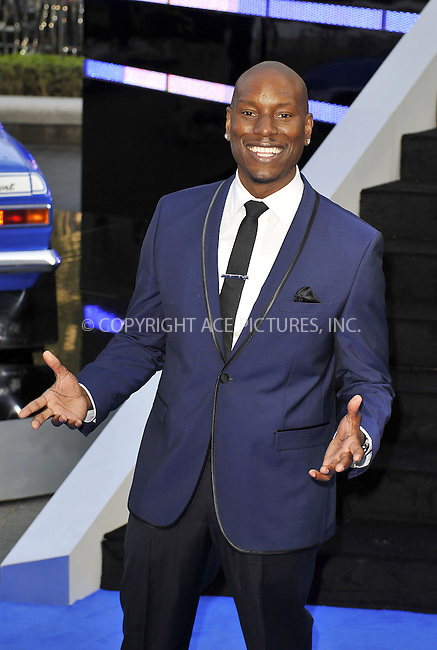 WWW.ACEPIXS.COM....US Sales Only....May 7 2013, London....Tyrese Gibson at the World premiere of 'Fast & Furious 6' held at the Empire Leicester Square on May 7 2013 in London....By Line: Famous/ACE Pictures......ACE Pictures, Inc...tel: 646 769 0430..Email: info@acepixs.com..www.acepixs.com