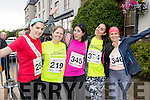 Emma Larkin, Aisling Stack, Mari Sol, Anna Guzzarde and Maureen Favre Listowel, who took part in the Rose of Tralee 10k on Sunday morning last.