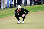 David Horsey (ENG) lines up his putt on the 5th green during Day 3 of the BMW PGA Championship Championship at, Wentworth Club, Surrey, England, 28th May 2011. (Photo Eoin Clarke/Golffile 2011)