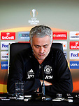 Manchester United Manager Jose Mourinho speaks the world's media during the Manchester United press conference at the Carrington Training Centre, Manchester. Picture date: May 19th 2017. <br /> Pic credit should read: Matt McNulty/Sportimage