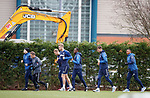 21.02.2019: Rangers training: Ryan Kent, Craig Flannigan, Scott Arfield, Joe Worrall, Glen Kamara, Borna Barisic and Alfredo Morelos