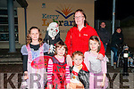 Listowel Halloween Parade: Taking part in the annual Halloween organised by the Listowel KDYS on Saturday evening last were Marguirete, Denis, Caitlin, Thomas, Aine & Lisa McMahon.