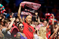 Portland, OR - Saturday September 02, 2017: Portland Thorns FC fans before a regular season National Women's Soccer League (NWSL) match between the Portland Thorns FC and the Washington Spirit at Providence Park.