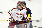 Kevin Hayes (BC - 12), Shawn Bates (Merrimack - 17) - The Boston College Eagles defeated the Merrimack College Warriors 4-2 to give Head Coach Jerry York his 900th collegiate win on Friday, February 17, 2012, at Kelley Rink at Conte Forum in Chestnut Hill, Massachusetts.