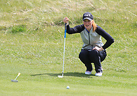 Gemma Batty (SCO) on the 8th green during Round 3 of the Irish Women's Open Stroke Play Championship 2018 on Sunday 13th May 2018.<br /> Picture:  Thos Caffrey / Golffile<br /> <br /> All photo usage must carry mandatory copyright credit (&copy; Golffile | Thos Caffrey)