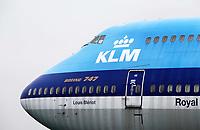 Nederland Lelystad-  Januari 2018.  Lelystad Airport. Aviodrome. KLM vliegtuig. Boeing 747.   Foto Berlinda van Dam / Hollandse Hoogte