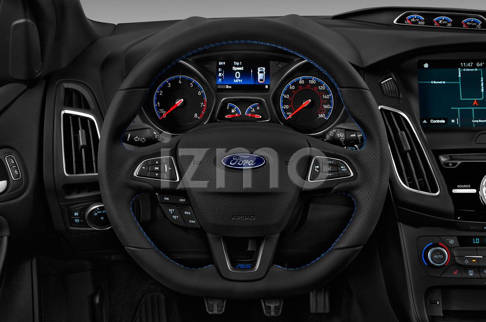 Car pictures of steering wheel view of a 2017 Ford Focus RS 5 Door Hatchback Steering Wheel