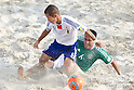 (L-R) Tomoya Uehara (JPN), Jose Luis Navarrete (MEX), SEPTEMBER 02, 2011 - Beach Soccer : FIFA Beach Soccer World Cup Ravenna-Italy 2011 Group D match between Japan 2-3 Mexico at Stadio del Mare, Marina di Ravenna, Italy, (Photo by Enrico Calderoni/AFLO SPORT) [0391]