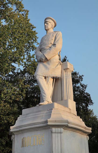 Statue of Helmuth von Moltke the Elder, 1800-91, military strategist and chief of staff of the Prussian army, 1904, by Joseph Uphues, 1851ñ1911, at the Grosser Stern in the Grosser Tiergarten park, Berlin, Germany. Picture by Manuel Cohen