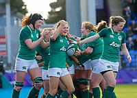2nd February 2020; Energia Park, Dublin, Leinster, Ireland; International Womens Rugby, Six Nations, Ireland versus Scotland; Beibhinn Parsons of Ireland celebrates scoring a try 18 - 7