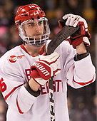 John MacLeod (BU - 16) - The Harvard University Crimson defeated the Boston University Terriers 6-3 (EN) to win the 2017 Beanpot on Monday, February 13, 2017, at TD Garden in Boston, Massachusetts.
