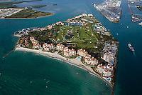 aerial photograph Fisher Island Biscayne Bay Miami Dade county Florida
