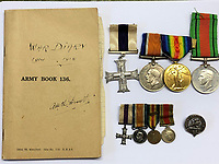 BNPS.co.uk (01202 558833)<br /> Pic: CharterhouseAuction/BNPS<br /> <br /> The heroics of a pint-sized soldier who was part of the so-called Tommy Thumb Regiment can be told over 100 years later after his gripping war diary went up for sale.<br /> <br /> Since Captain Angus McKenzie Forsyth was under 5ft 3ins he fell below the British Army's minimum height requirement in World War One.<br /> <br /> However, such was the necessity to recruit men to fight in the trenches, special 'Bantam' units were formed for vertically-challenged Tommies <br /> <br /> Men who measured between 4ft 10ins and 5ft 3ins were eligible.