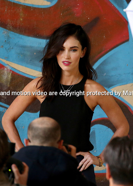 8 SEPTEMBER 2014 SYDNEY AUSTRALIA<br /> <br /> EXCLUSIVE PICTURES<br /> <br /> Megan Fox and Will Arnett pictured at a secret photoshoot at Paddington Mews followed by an interview for the Sunrise program with Samantha Armytage.<br /> <br /> <br /> <br /> <br />  *No internet without clearance*.<br /> MUST CALL PRIOR TO USE <br /> +61 2 9211-1088. <br /> <br /> Matrix Media Group.Note: All editorial images subject to the following: For editorial use only. Additional clearance required for commercial, wireless, internet or promotional use.Images may not be altered or modified. Matrix Media Group makes no representations or warranties regarding names, trademarks or logos appearing in the images.