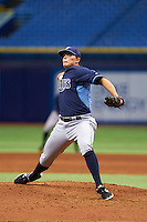 Tampa Bay Rays pitcher Brandon Koch (2) during an instructional league game against the Boston Red Sox on September 24, 2015 at Tropicana Field in St Petersburg, Florida.  (Mike Janes/Four Seam Images)