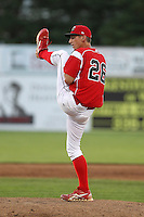 Batavia Muckdogs pitcher Brandon Creath #26 during an exhibition game against the Newark Pilots of the Perfect Game Collegiate Baseball Lague at Dwyer Stadium on June 15, 2012 in Batavia, New York.  Batavia defeated Newark 8-0.  (Mike Janes/Four Seam Images)