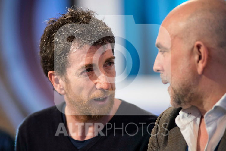 Pablo Matos and Fernando Jerez during the presentation of the new TV program to Movistar+,  &quot; Likes &quot; at 7 y accion studios in Madrid. January 27, 2016.<br /> (ALTERPHOTOS/BorjaB.Hojas)