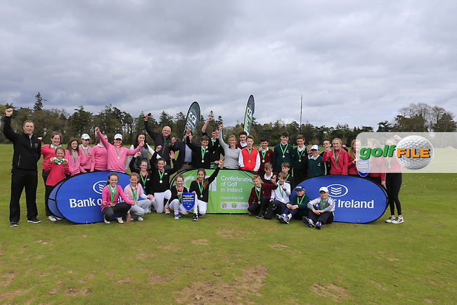 National winners and regional winners of the national finals of the Dubai Duty Free Irish Open Skills Challenge supported by Bank of Ireland in conjunction with CGI at the GUI National Golf Academy, Carton House, Maynooth, Co Kildare. 24/04/2016.<br /> Picture: Golffile | Fran Caffrey<br /> <br /> <br /> All photo usage must carry mandatory copyright credit (&copy; Golffile | Fran Caffrey)