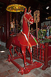 Hanoi, Vietnam, A large Red Horse inside Ngoc Son (Jade Mountain) Temple photo taken July 2008.