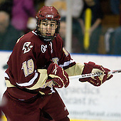 Chris Kreider (BC - 19) - The Merrimack College Warriors defeated the Boston College Eagles 5-3 on Sunday, November 1, 2009, at Lawler Arena in North Andover, Massachusetts splitting the weekend series.