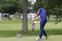 Dustin Johnson (USA) tees off the 2nd tee during Sunday's Final Round of the WGC Bridgestone Invitational 2017 held at Firestone Country Club, Akron, USA. 6th August 2017.<br /> Picture: Eoin Clarke | Golffile<br /> <br /> <br /> All photos usage must carry mandatory copyright credit (&copy; Golffile | Eoin Clarke)