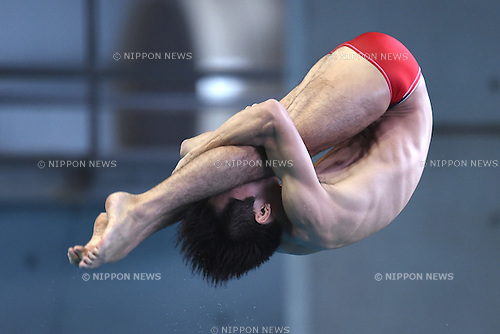 Ken Terauchi,<br /> SEPTEMBER 19, 2015 - Diving :<br /> All Japan Diving Championship 2015<br /> Men's 3m Springboard<br /> Preliminary<br /> at Tatsumi International Swimming Center, Tokyo, Japan.<br /> (Photo by AFLO SPORT)