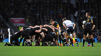 Duane Vermeulen of South Africa keeps an eye on proceedings during the Semi Final of the Rugby World Cup 2015 between South Africa and New Zealand - 24/10/2015 - Twickenham Stadium, London<br /> Mandatory Credit: Rob Munro/Stewart Communications