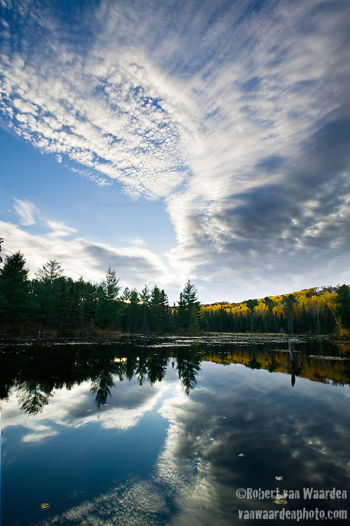 A morning landscape in Ontario, Canada.