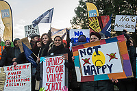 Teachers at The Village School in Brent North London go on strike against plans by the local authority to turn it into an academy. 16-1-18 The ballot was organised by the National Education Union (NEU).