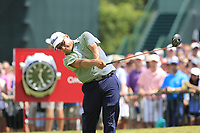 Omar Uresti (USA) tees off the 1st tee to start Saturday's Round 3 of the 2017 PGA Championship held at Quail Hollow Golf Club, Charlotte, North Carolina, USA. 12th August 2017.<br /> Picture: Eoin Clarke | Golffile<br /> <br /> <br /> All photos usage must carry mandatory copyright credit (&copy; Golffile | Eoin Clarke)