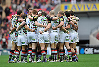 London, England. Harlequins during the Saracens and Harlequins Aviva Premiership with a world record crowd of 83,761 for a club rugby match at Wembley Stadium. 31March 2012 at Wembley Stadium, London, England,