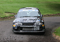 Chris Collie / Lisa Watson near Junction 10 on the Gleaner Oil & Gas Cooper Park Special Stage 2 of the Gleaner Oil & Gas Speyside Stages Rally 2012, Round 6 of the RAC MSA Scotish Rally Championship which was organised by The 63 Car Club (Elgin) Ltd and based in Elgin on 4.8.12..........
