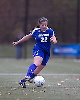 Hofstra University midfielder Danielle Murino (22) brings the ball forward. Boston College defeated Hofstra University, 3-1, in second round NCAA tournament match at Newton Soccer Field, Newton, MA.