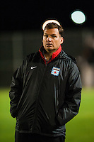 Chicago Red Stars head coach Rory Dames. Sky Blue FC and the Chicago Red Stars played to a 1-1 tie during a National Women's Soccer League (NWSL) match at Yurcak Field in Piscataway, NJ, on May 8, 2013.