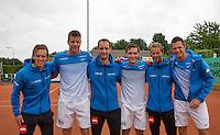 Simpeled, Netherlands, 19 June, 2016, Tennis, Playoffs Eredivisie Men, Presentatien teams, Team Nieuwekerk<br /> Photo: Henk Koster/tennisimages.com