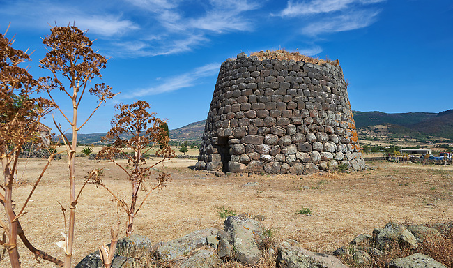 Picture and image of the prehistoric Nuragic ruins of Nuraghe Santa Sabina, archaeological site, Middle Bronze age , Silanus ,  Sardinia.
