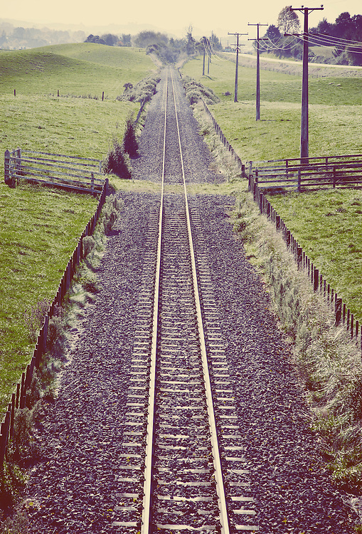train tracks, rail, transport, nobody, rural, lines, straight, direct, symbolism, transport,railway,parallell,conceptual, green, looking down on, steve allsopp, vertical, countryside, country, fields, romance, history, nostalgia, romance, empty, lonely, loneliness, melancholy
