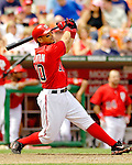 11 June 2006: Royce Clayton, shortstop for the Washington Nationals, at bat during a game against the Philadelphia Phillies at RFK Stadium, in Washington, DC. The Nationals shut out the visiting Phillies 6-0 to take the series three games to one...Mandatory Photo Credit: Ed Wolfstein Photo..