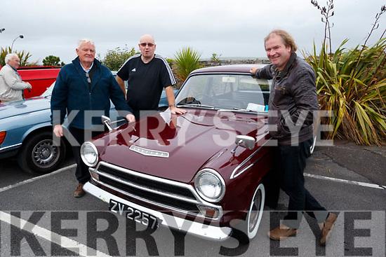Matt Woods, Billy Horgan and John McCarthy pictured at the Blennerville Treshing Festival on Sunday.
