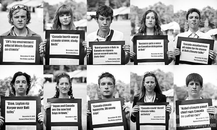Canadian Youth Delegation (©Robert vanWaarden, Nusa Dua, Indonesia Dec 12, 2007)