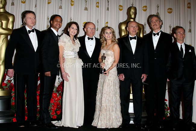 Feb 22, 2009 - Hollywood, California, USA - Actors CHRISTOPHER WALKEN, CUBA GOODING JR., ALAN ARKIN, KEVIN KLINE and JOEL GREY with Heath Ledger's family SALLY LEDGER, KIM LEDGER and KATE LEDGER, with the posthumous award for 'Best Supporting Actor' for his role in 'The Dark Knight' in the pressroom at the 81st Annual Academy Awards held at the Kodak Theatre in Hollywood..(Credit Image: ©  /ZUMA Press)