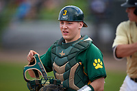 Siena Saints catcher Phil Madonna (3) during a game against the UCF Knights on February 21, 2016 at Jay Bergman Field in Orlando, Florida.  UCF defeated Siena 11-2.  (Mike Janes/Four Seam Images)