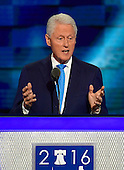 Former United States President Bill Clinton makes remarks during the second session of the 2016 Democratic National Convention at the Wells Fargo Center in Philadelphia, Pennsylvania on Tuesday, July 26, 2016.<br /> Credit: Ron Sachs / CNP<br /> (RESTRICTION: NO New York or New Jersey Newspapers or newspapers within a 75 mile radius of New York City)