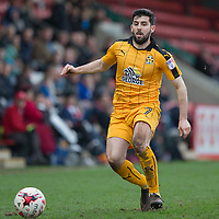 Piero Mingoia of Cambridge United during the Sky Bet League 2 match between Cheltenham Town and Cambridge United at the LCI Stadium, Cheltenham, England on 18 March 2017. Photo by Mark  Hawkins / PRiME Media Images.