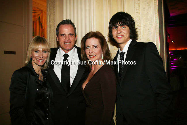 """As The World Turns' Kelley Menighan Hensley - Michael Park - Martha Byrne - Mick Hazen at the """"When You Wish Upon A Star"""" on March 6, 2010 which benefits Child Life and Creative Arts Therapy Department, Maria Fareri Children's Hospital at Westchester Medical Center, Westchester, New York. The evening began with a cocktail reception and silent auction, a children's performance (singing) followed by dinner, dancing and more. (Photo by Sue Coflin/Max Photos)"""