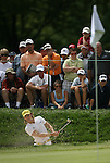 7 September 2008:     Camilo Villegas hits out of the bunker in the fourth and final round of play at the BMW Golf Championship at Bellerive Country Club in Town & Country, Missouri, a suburb of St. Louis, Missouri on Sunday September 7, 2008. The BMW Championship is the third event of the PGA's  Fed Ex Cup Tour.