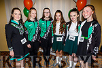 Ready to dance away at the WIDA Irish Dancing Associations championships in the Brandon Hotel on Saturday morning. L to r: Saoirse Moloney (Ballymac), Laura Sugrue (Ballymac), Eimear Curran (Ballymac), Roisin Ragget (Ballymac), Saoirse Doyle (Ballymac)and Aoife O'Sullivan (Tralee).